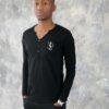 T-shirt noir manche longue