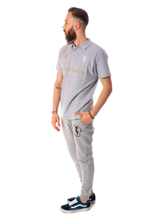 ensemble polo jogging gris