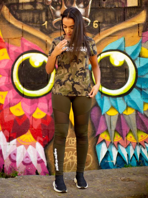 t-shirt femme camouflage